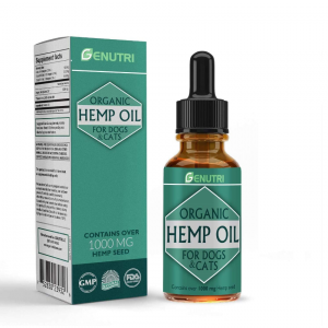 METACYL Hemp Oil for Dogs & Cats – Organic Pet Hemp Oil for Skin and Fur, Stress Relief Essential Oil and Anxiety Relief Supplements – Dogs & Cats Anxiety Relief – 1000 mg – Omega 3, 6 & 9