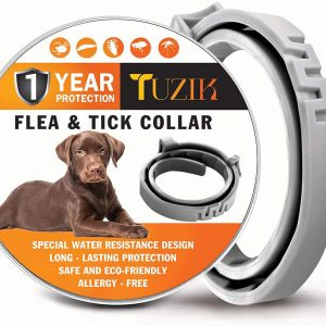 TUZIK Flea Collar for Dogs – 12 Months Flea and Tick Prevention – Dog Flea and Tick Treatment – Stable, Durable and Waterproof Flea and Tick Collar