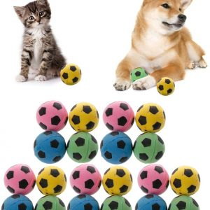 Abicial 20PCS Non-Noise Cat EVA Ball Soft Foam Soccer Play Balls for Cat Scratching Toy