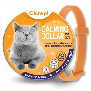 RYDOR Cat Calming Collar – 100% Natural and Safe Calming Collar – Adjustable and Waterproof – Anxiety Relief Version 2021.